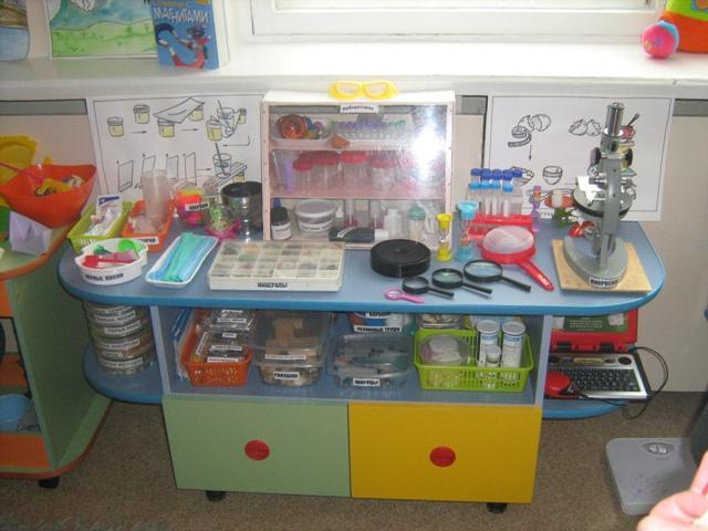 Центр экспериментирования в детском саду фото